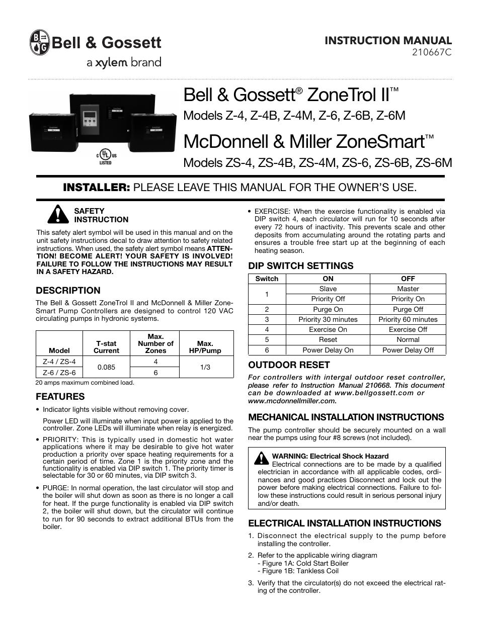 bell gossett 210667c z 6b user manual 2 pages also for rh manualsdir com Doorbell Transformer Wiring Diagram Doorbell Wiring Schematic Diagram