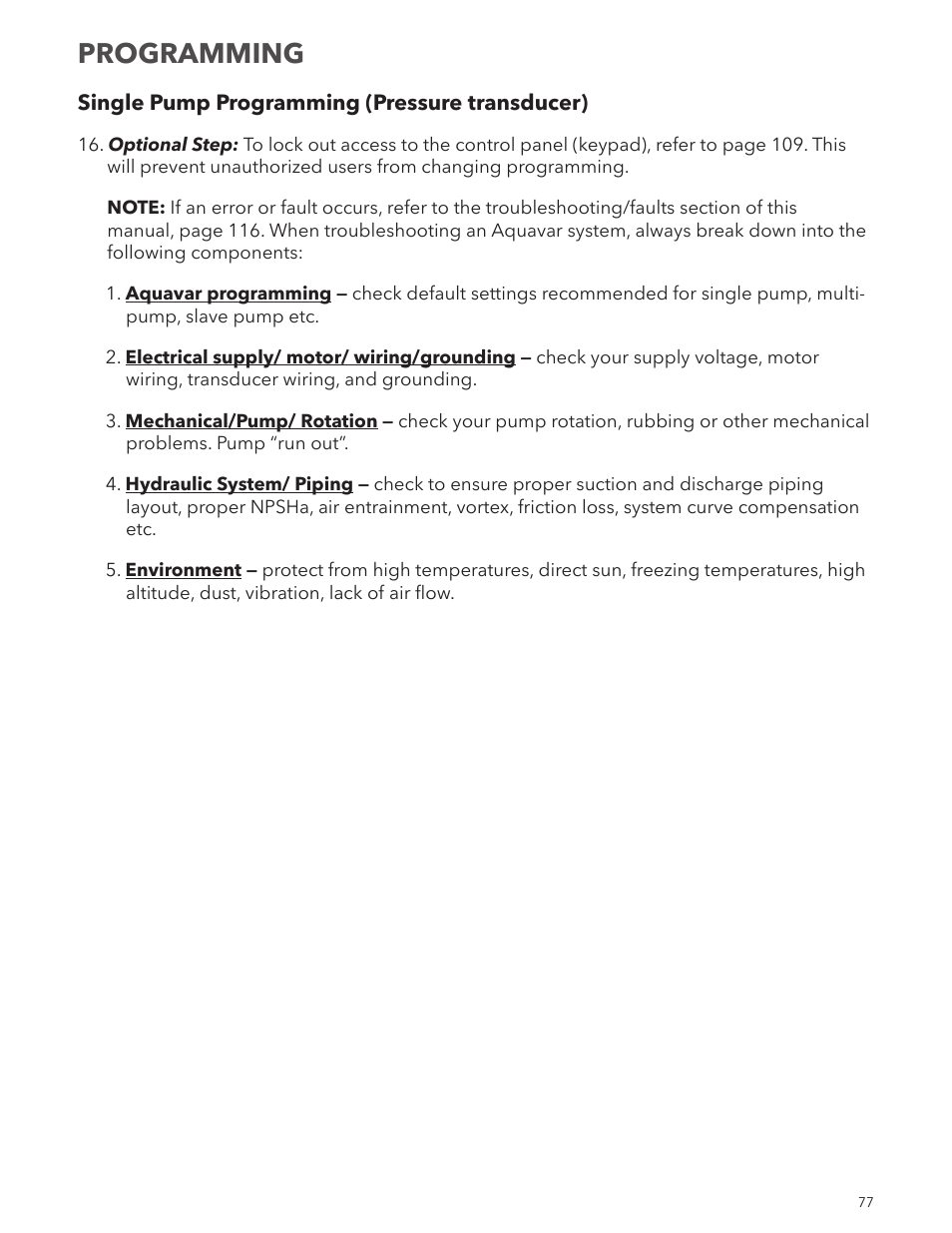 Programming Xylem Im167 R8 Aquavar Cpc Centrifugal Pump Control Piping Layout Around User Manual Page 77 152