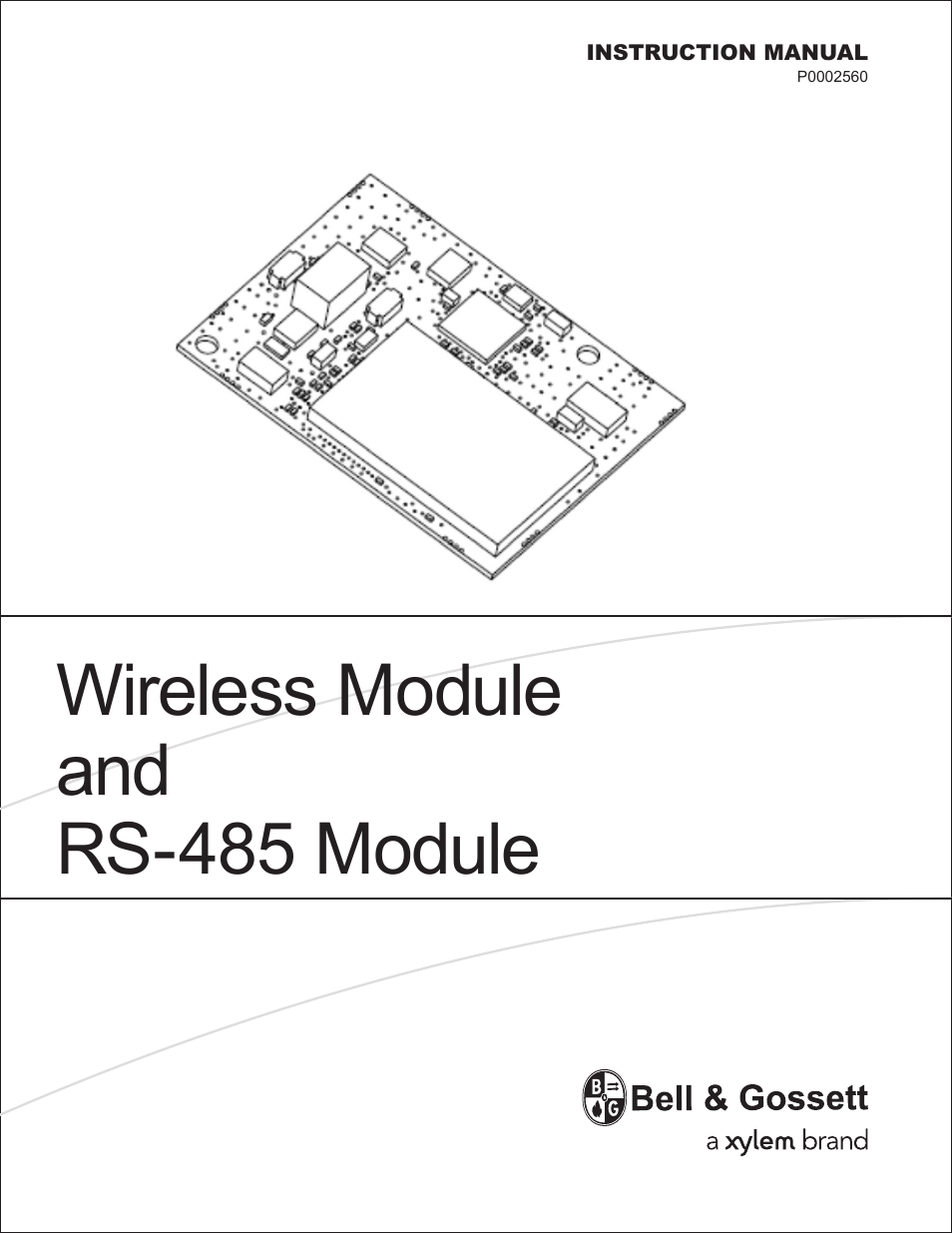 Bell Gossett P0002560 Wireless Module And Rs 485 Module User