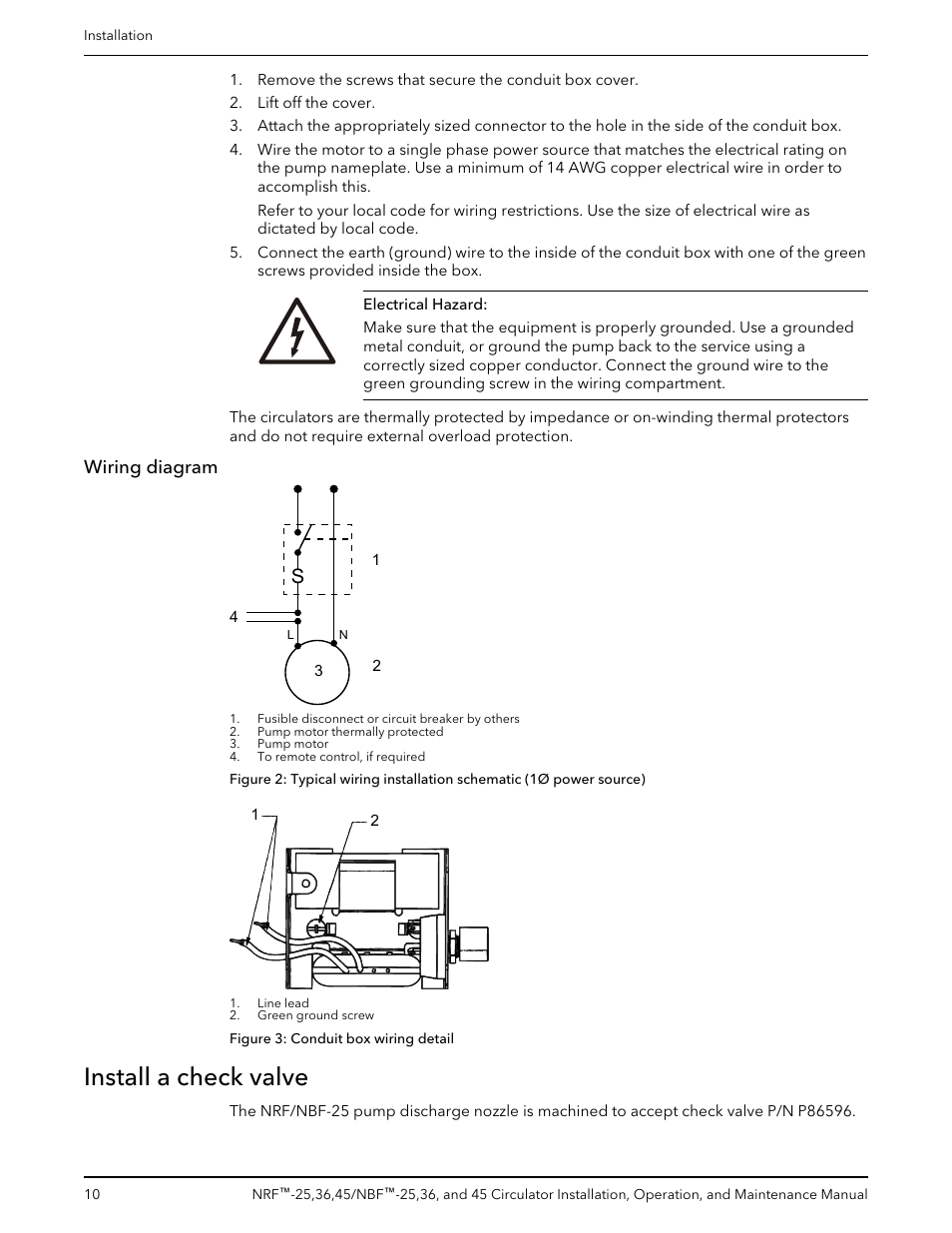 Wiring Diagram Install A Check Valve Bell Gossett P86203f Nbf Figure 3 Circuit Schematic 45 Circulator User Manual Page 12 20