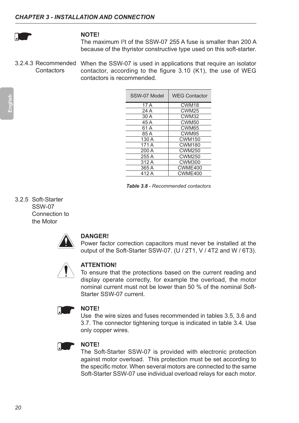 3 recommended contactors 5 soft starter ssw 07 connection to the 3 recommended contactors 5 soft starter ssw 07 connection to the motor xylem ssw 07 soft starter user manual page 21 161 greentooth Images