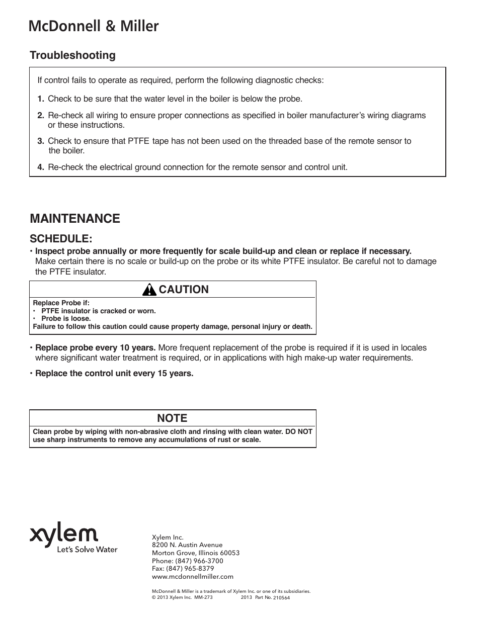 Mcdonnell Miller Xylem Mm 273e Model 750 Hw Mt 120 Probe Type Wiring Diagrams High Water Manual Reset Control Unit User Page 8