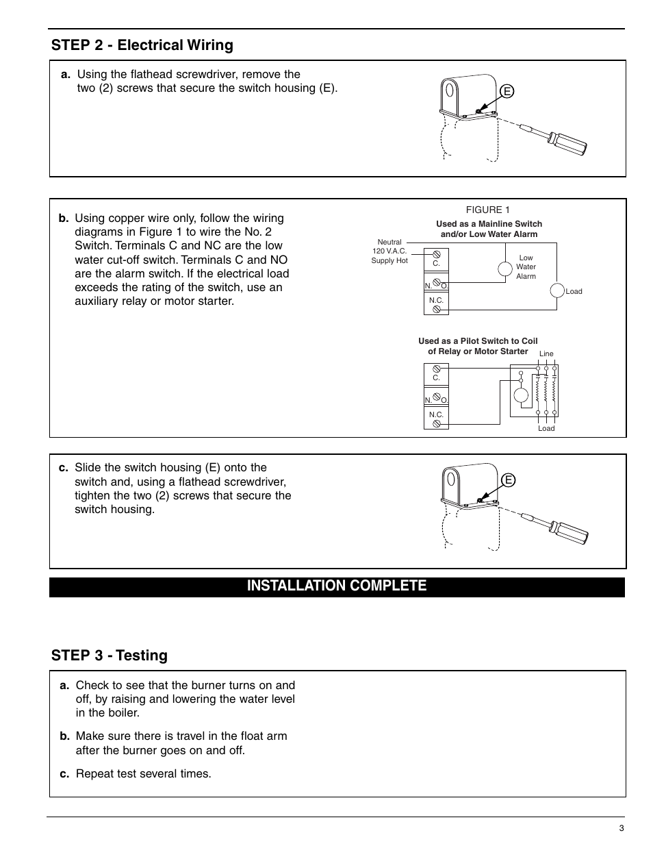 Cut Off On And Switch Wiring Diagram Best Library Two Float 2 For Series 47 247 63 51 53 Water Feeders