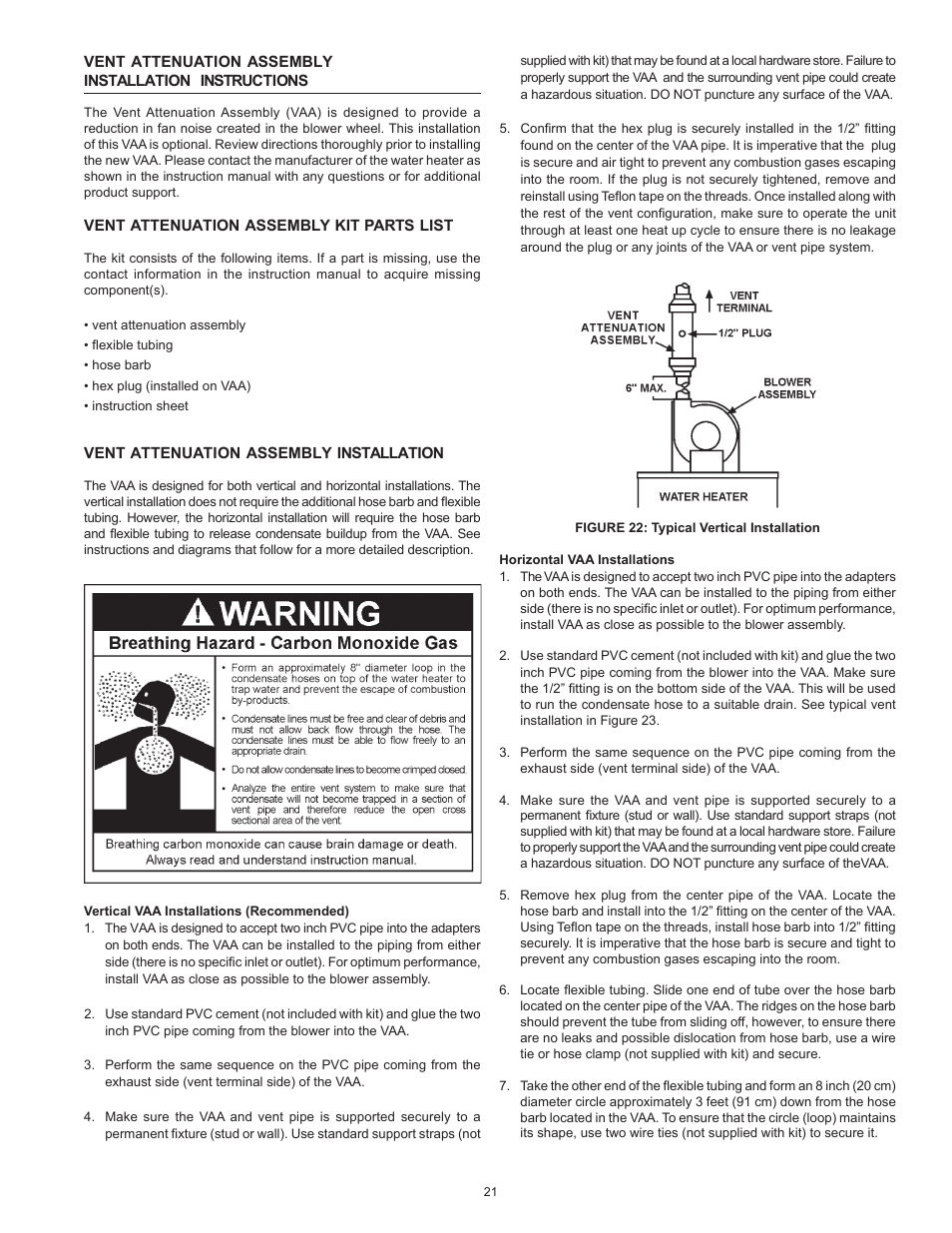 John Wood Envirosense Power Vent User Manual | Page 21 / 36