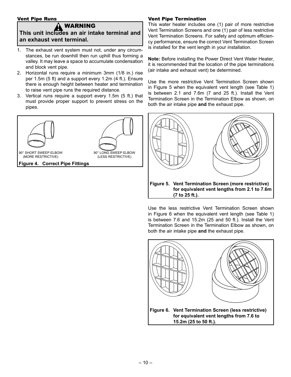 John Wood Power Direct Vent (ENERGY STAR) User Manual | Page
