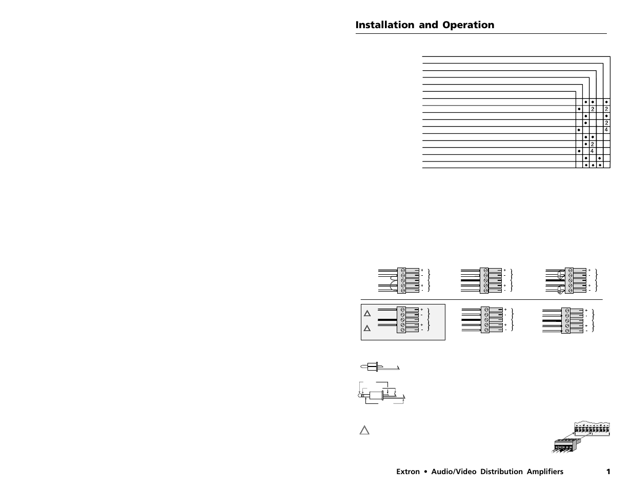 Installation And Operation 1extron Audio Video Distribution The Amplifier Amplifiers Extron Electronics Svda 6a Mx User Manual Page 3 6