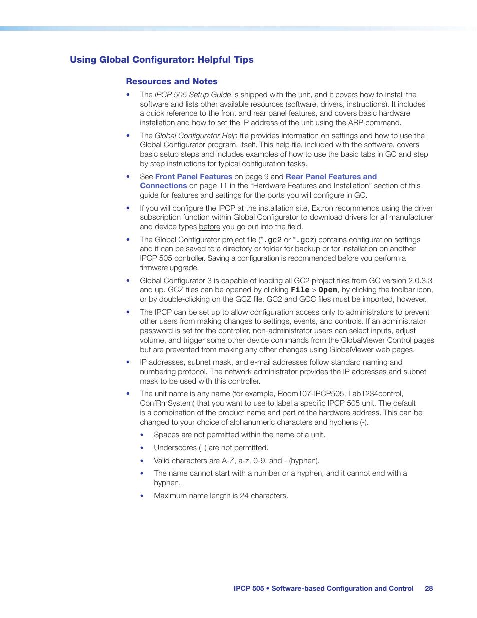 Using global configurator: helpful tips | Extron Electronics