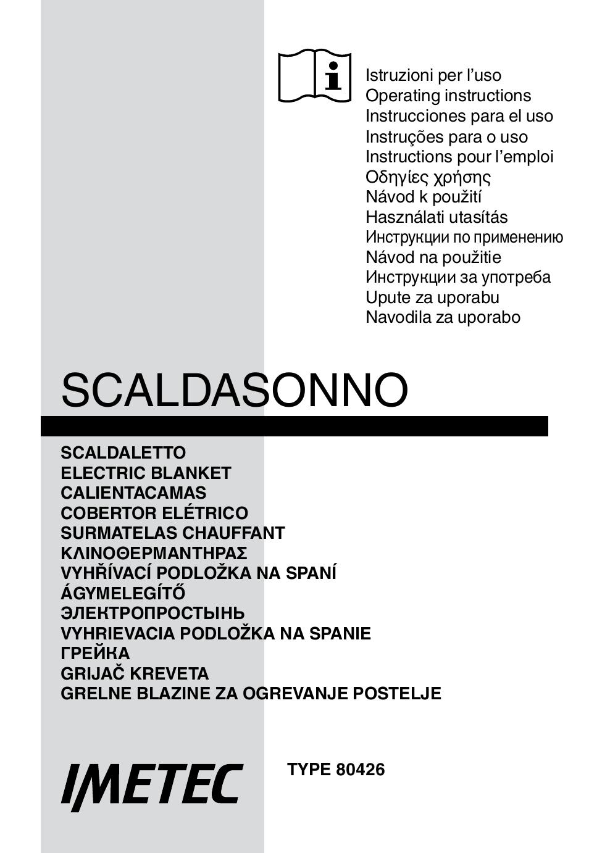 Scaldasonno Imetec Istruzioni.Imetec Relaxy Single User Manual 56 Pages