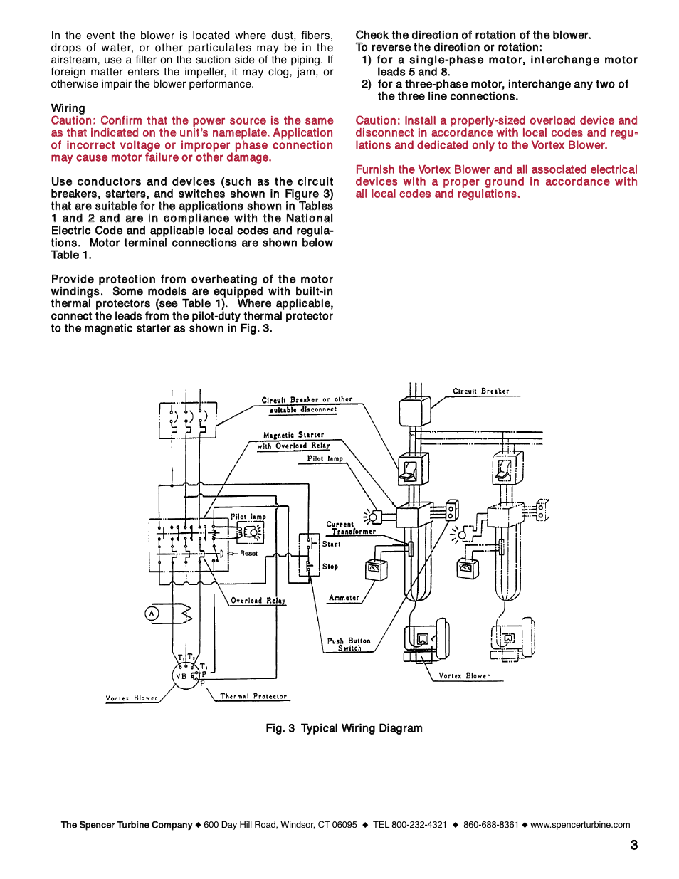 Spencer Motor Wiring Diagram Reinvent Your Ac Blower Vb055 Vortex Regenerative Blowers User Manual Page 3 20 Rh Manualsdir Com 110 220