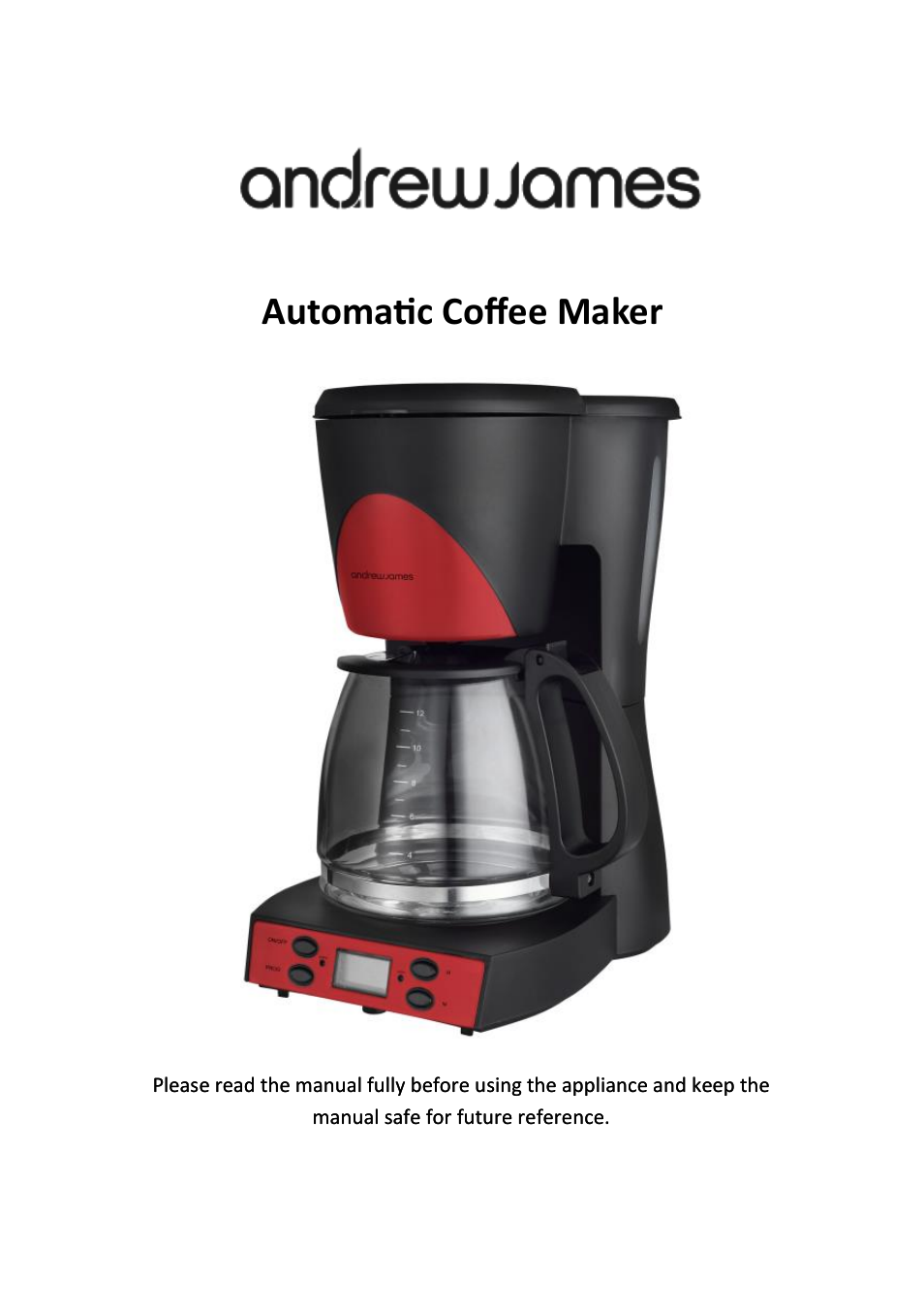 Andrew James Aj000564 1000w Automatic Filter Coffee Machine