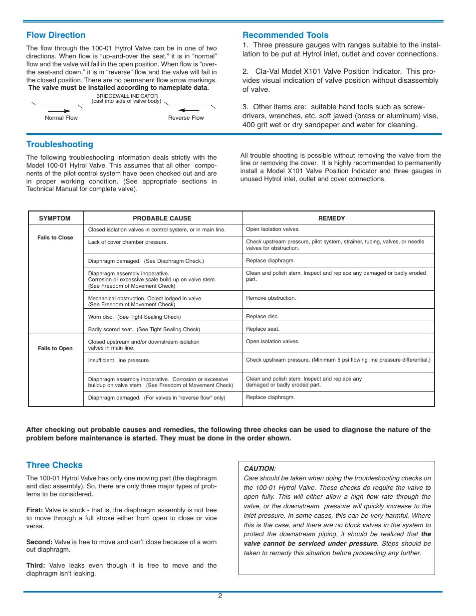 Coolant Flow Direction Manual Guide
