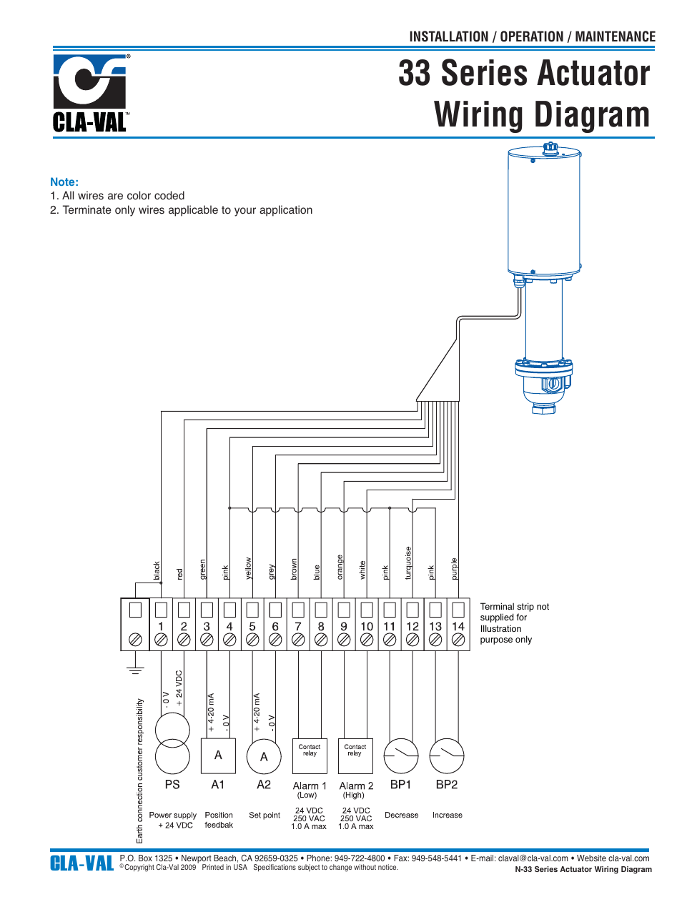 33 series actuator wiring diagram  cla