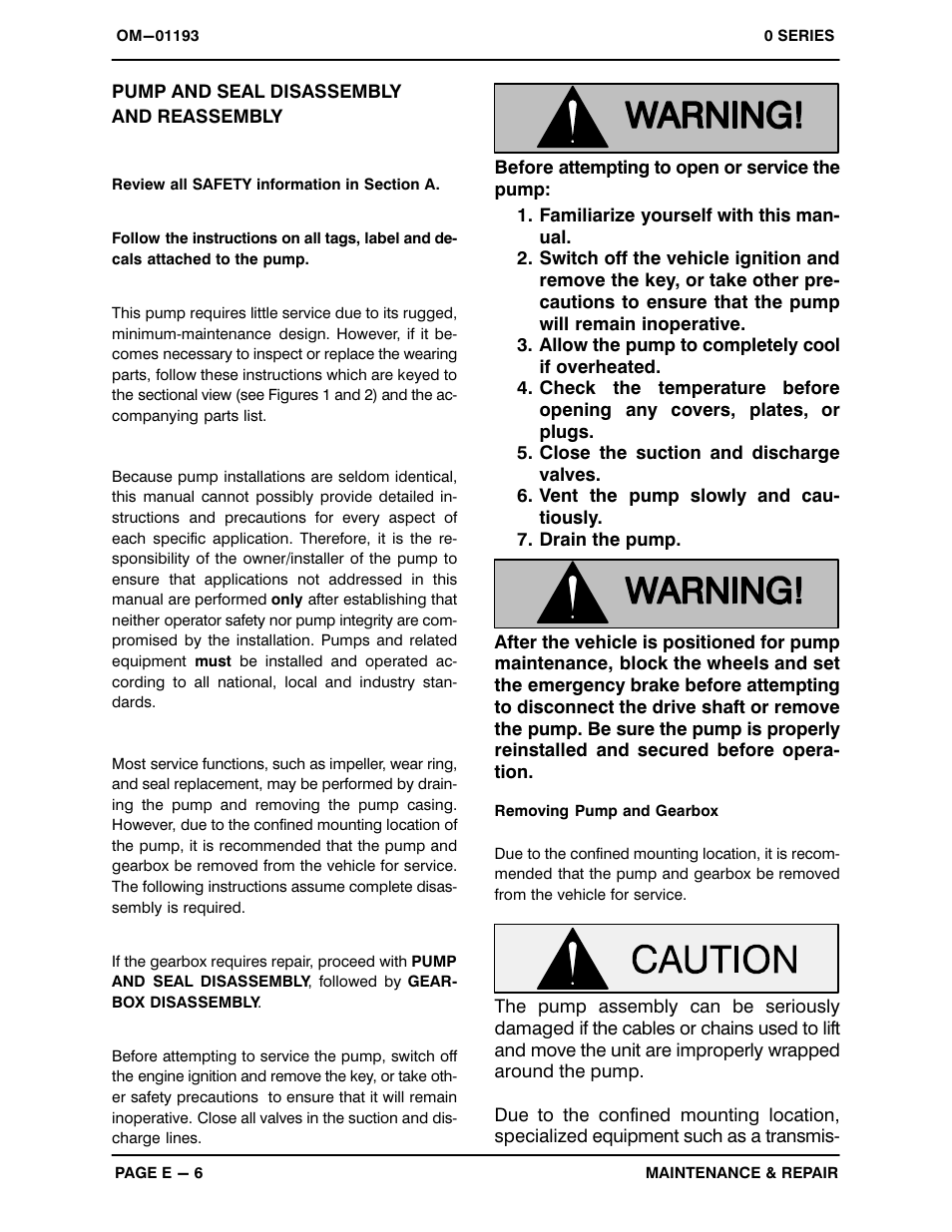 Pump And Seal Disembly Reembly Gorman Rupp Pumps 03h1 Gl 282480 Up User Manual Page 26 34