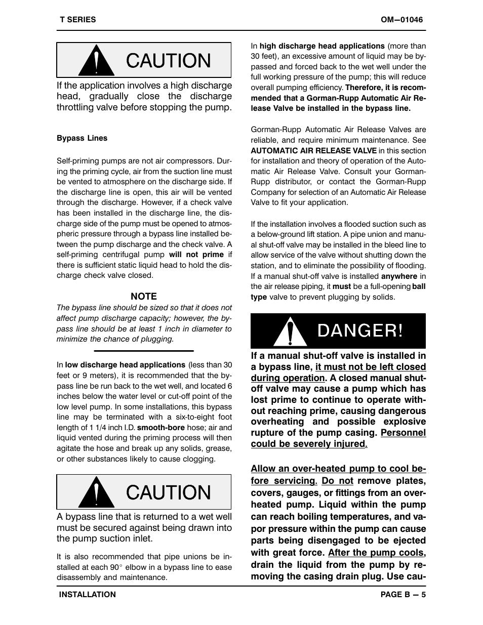 gorman rupp pumps t6a3 b f fm user manual page 12 39 rh manualsdir com gorman rupp ghs series manual gorman rupp t series manual