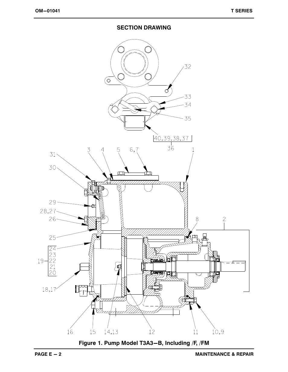 figure 1  pump model t3a3 f    fm