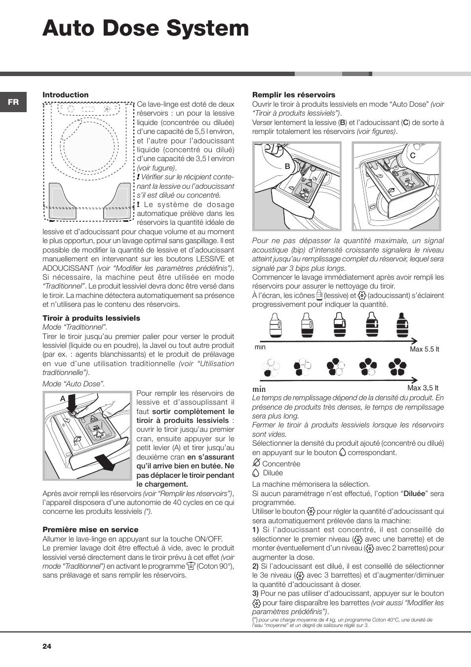 Auto dose system | Hotpoint Ariston Aqualtis ADS93D 69 EU-A User Manual |  Page