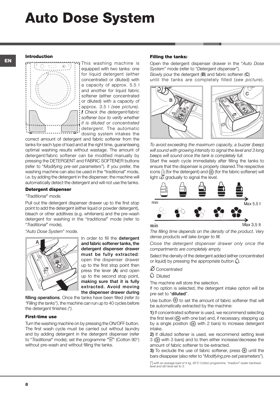 hotpoint ariston washing machine instruction manual