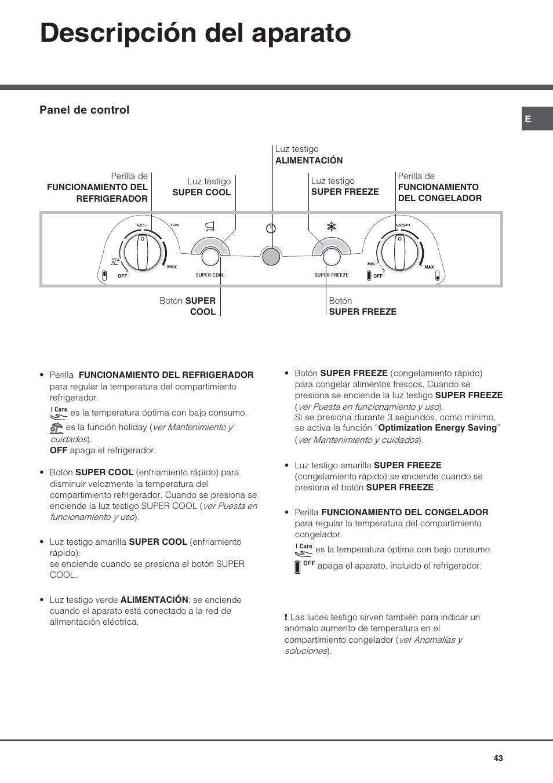 Descripción del aparato | Hotpoint Ariston Combiné Quadrio 4D AA W-HA User  Manual |
