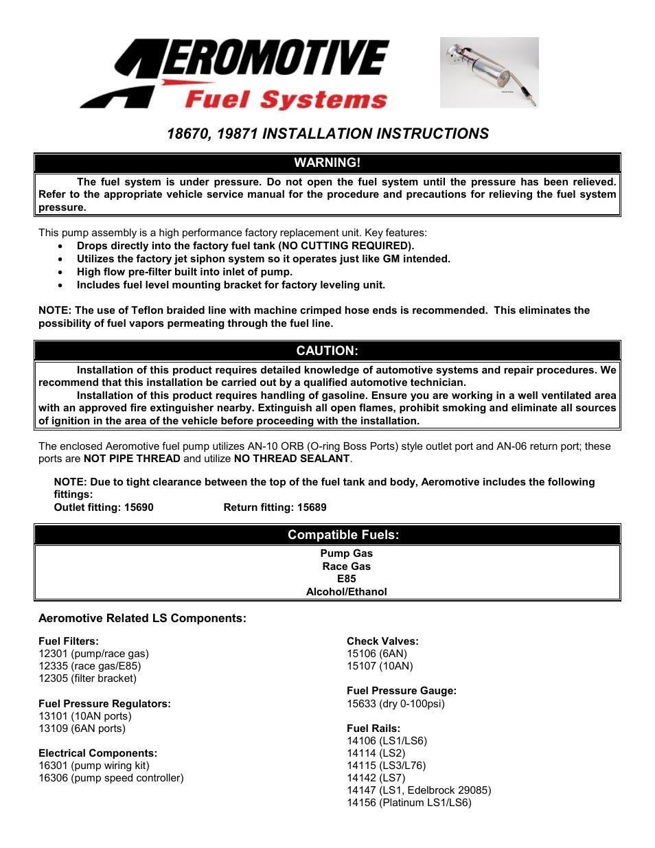 Boss ls2 manual array aeromotive 18670 a1000 corvette stealth kit user manual 10 pages rh manualsdir com fandeluxe Gallery