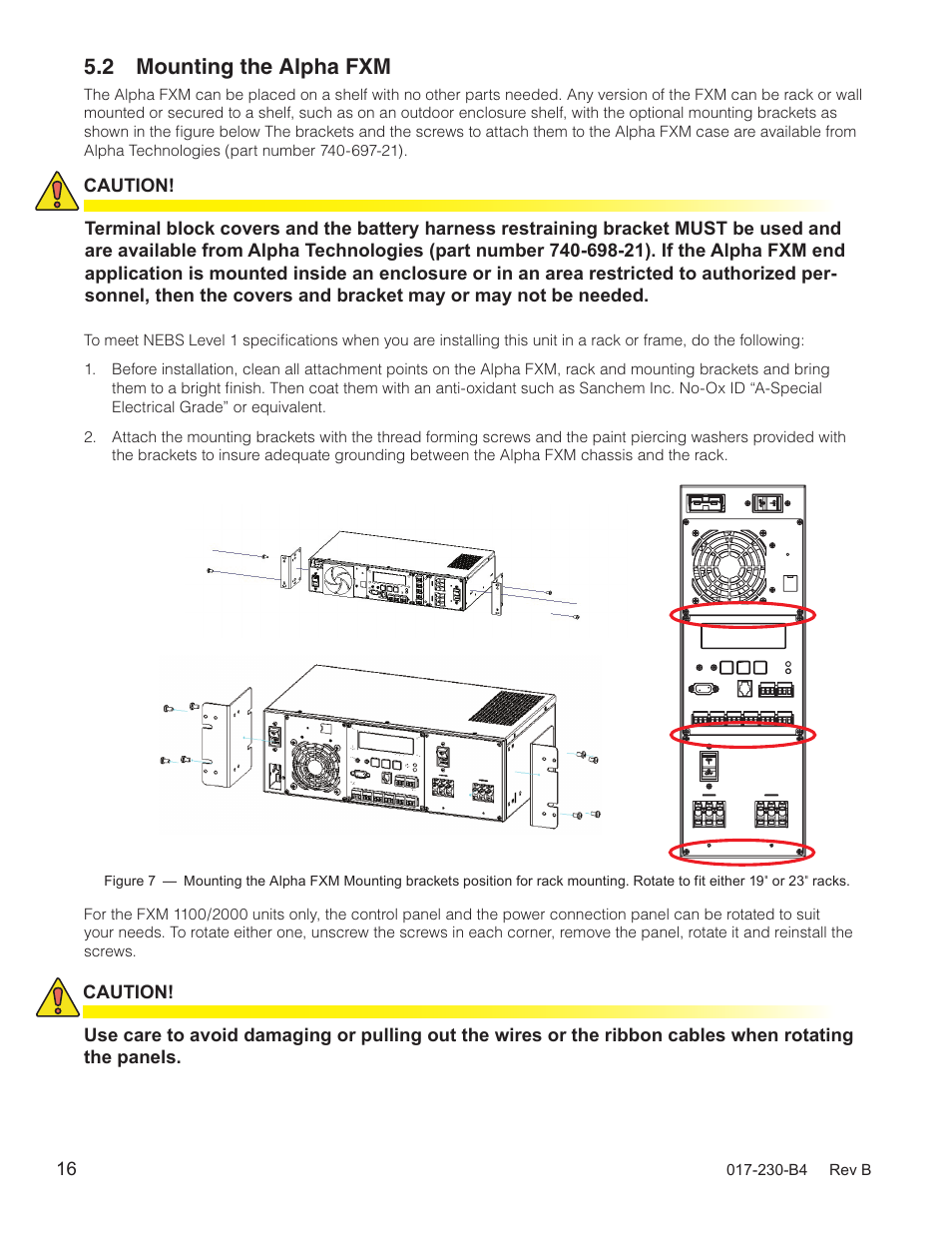 2 mounting the alpha fxm | alpha technologies fxm 650, 1100, 2000 ups user  manual | page 18 / 96