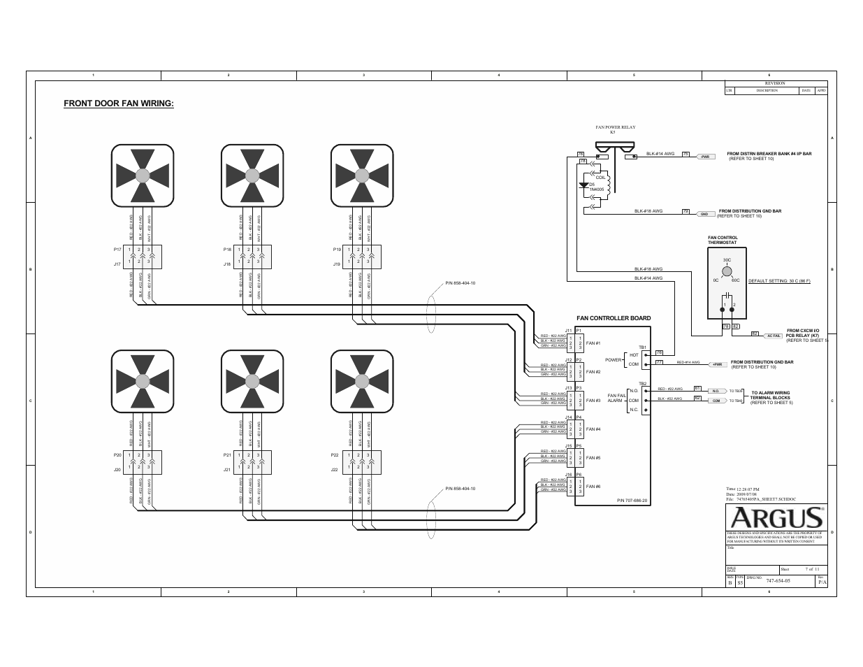 Front door fan wiring | Alpha Technologies Te41, 48V User Manual ...