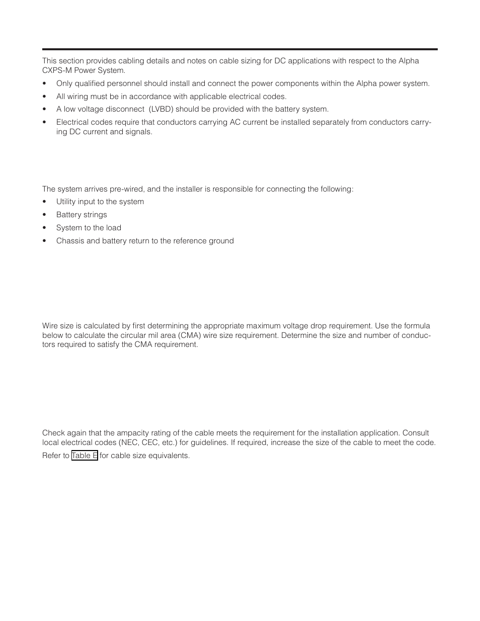 Installation ac dc and grounding cables 1 installation notes installation ac dc and grounding cables 1 installation notes alpha technologies cordex cxps m 4824 1200600a user manual page 39 68 keyboard keysfo Gallery
