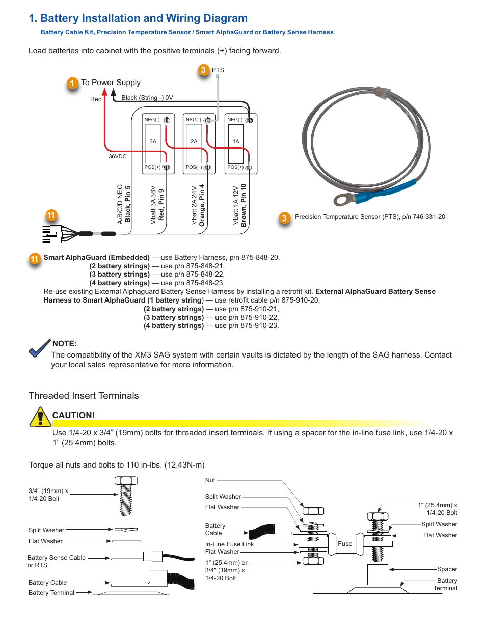 Alpha Wiring Diagram Schematics Echo Battery Installation And Threaded Insert Terminals