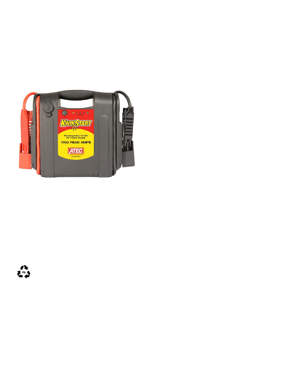 Associated Equipment 6255 User Manual 4 Pages 12v Powered Lead Acid Battery Charger With Indicator