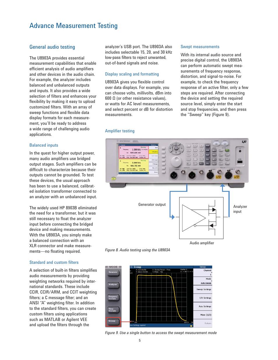 Advance measurement testing | Atec Agilent-U8903A User Manual | Page