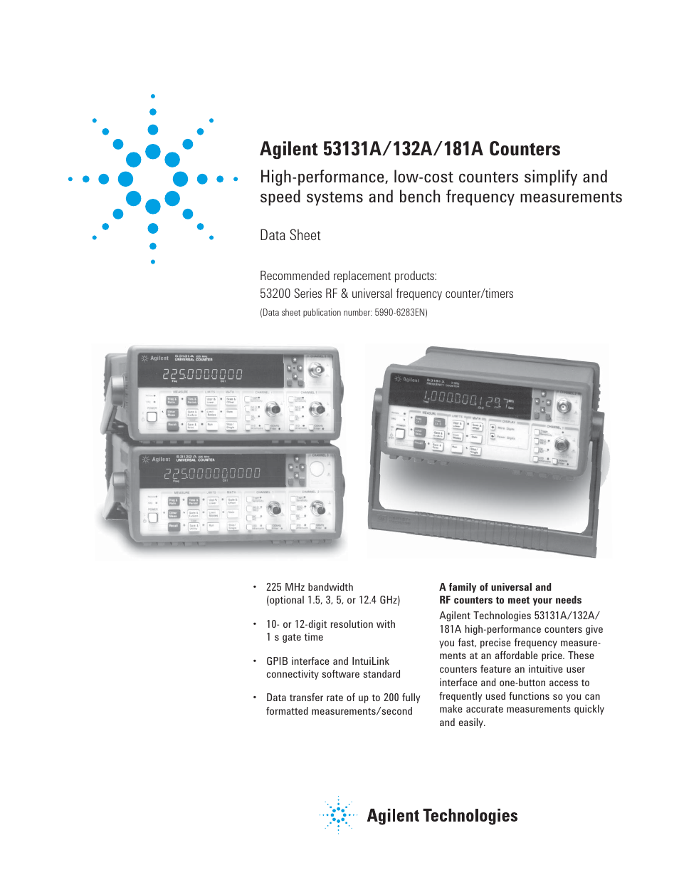 atec agilent 53132a 53131a 53181a user manual 13 pages rh manualsdir com hp/agilent 53132a manual agilent frequency counter 53132a manual