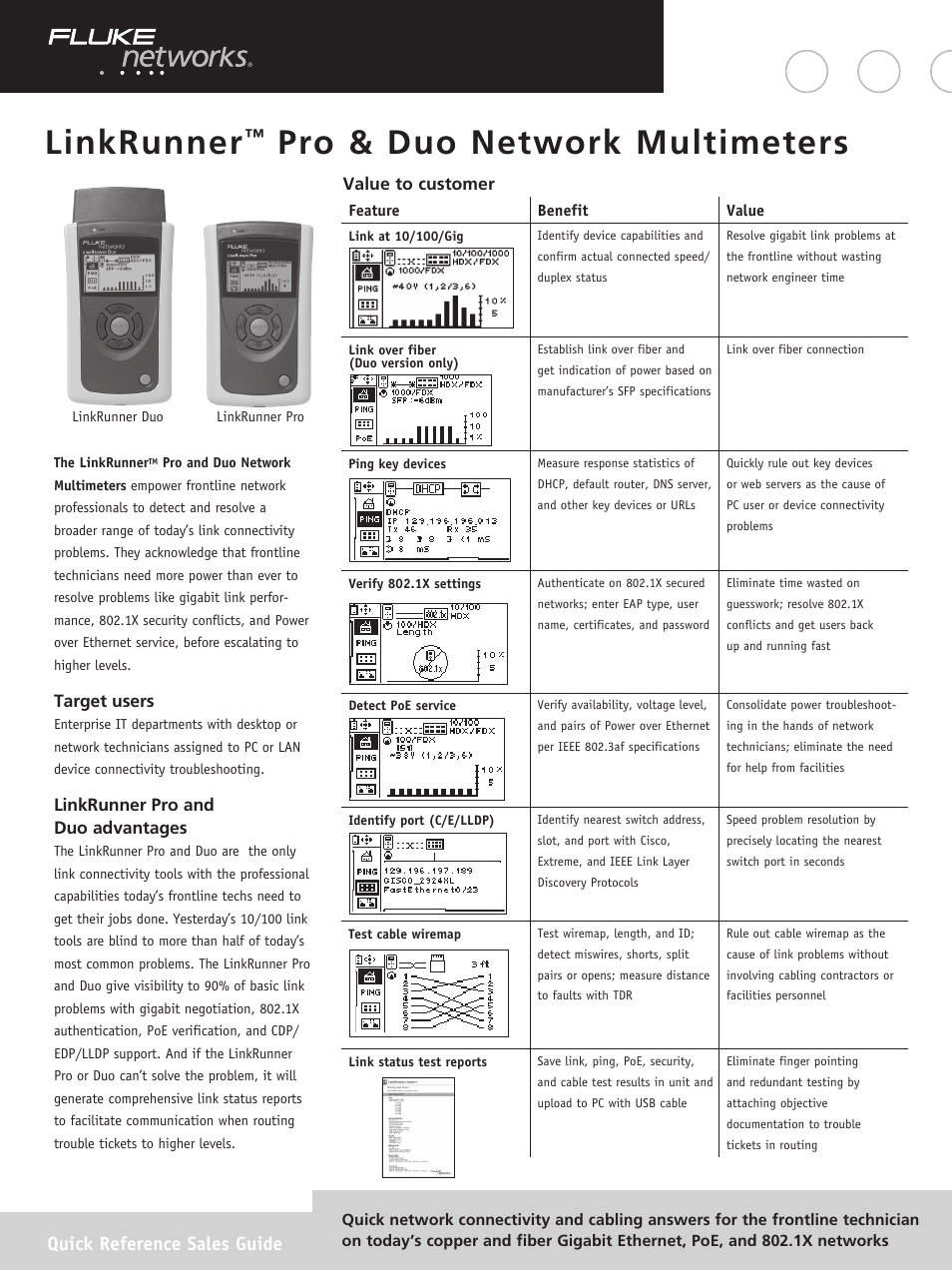 Atec Fluke-Linkrunner-Pro-Duo User Manual | 2 pages