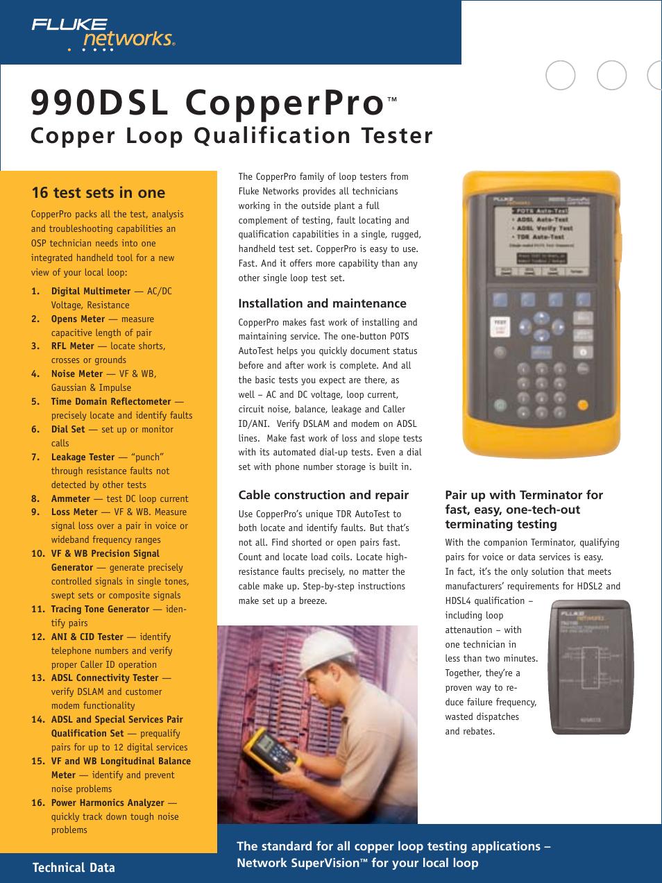 Atec Fluke-990DSL User Manual   12 pages