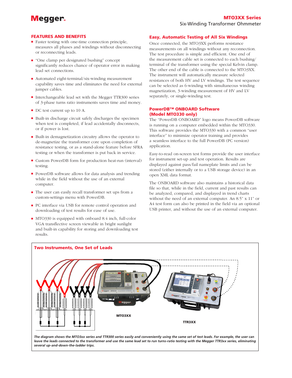 Atec Megger-MTO3XX Series User Manual | Page 2 / 3