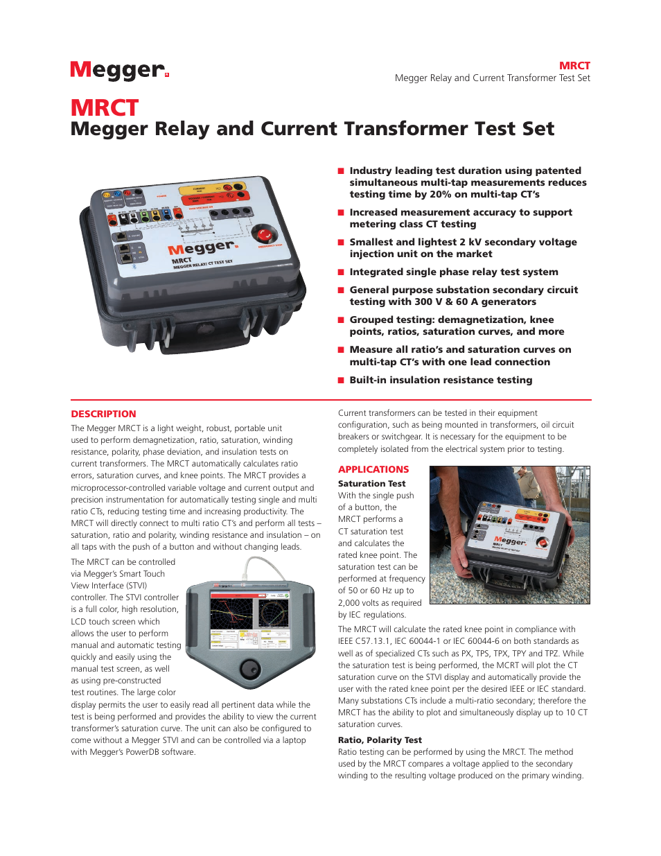 Atec Megger Mrct User Manual 8 Pages Current Transformer In Relay