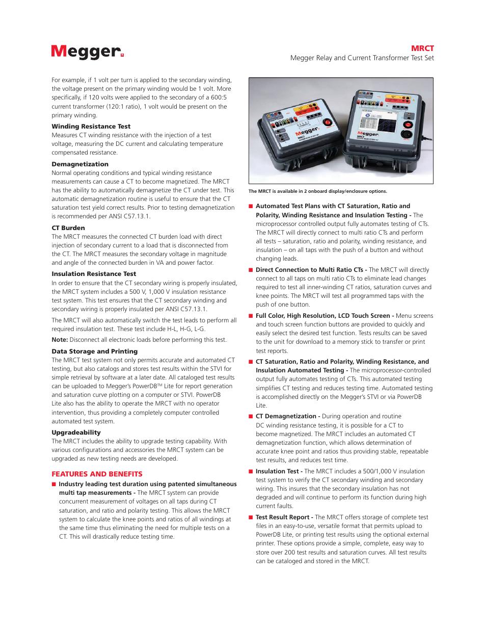 Mrct | Atec Megger-MRCT User Manual | Page 2 / 8