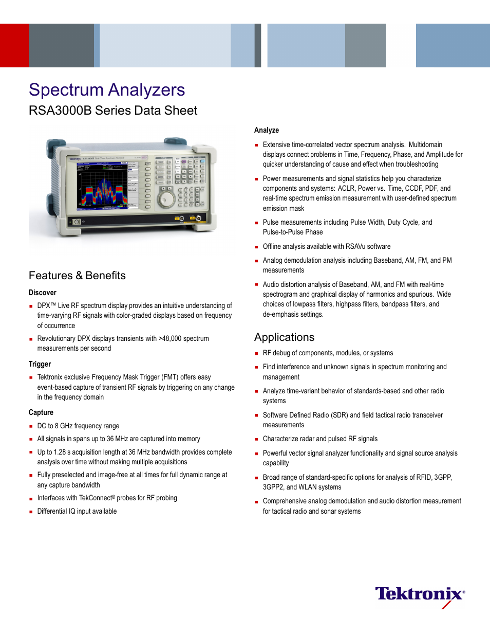Atec Tektronix-RSA3000B User Manual | 16 pages