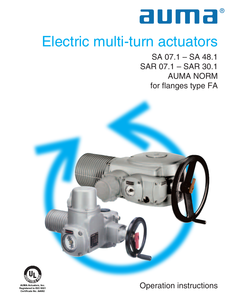Auma Actuator Wiring Schematic 30 Diagram Images Electric Multi Turn Actuators Sa 071 481 Sar 301 Norm Page1