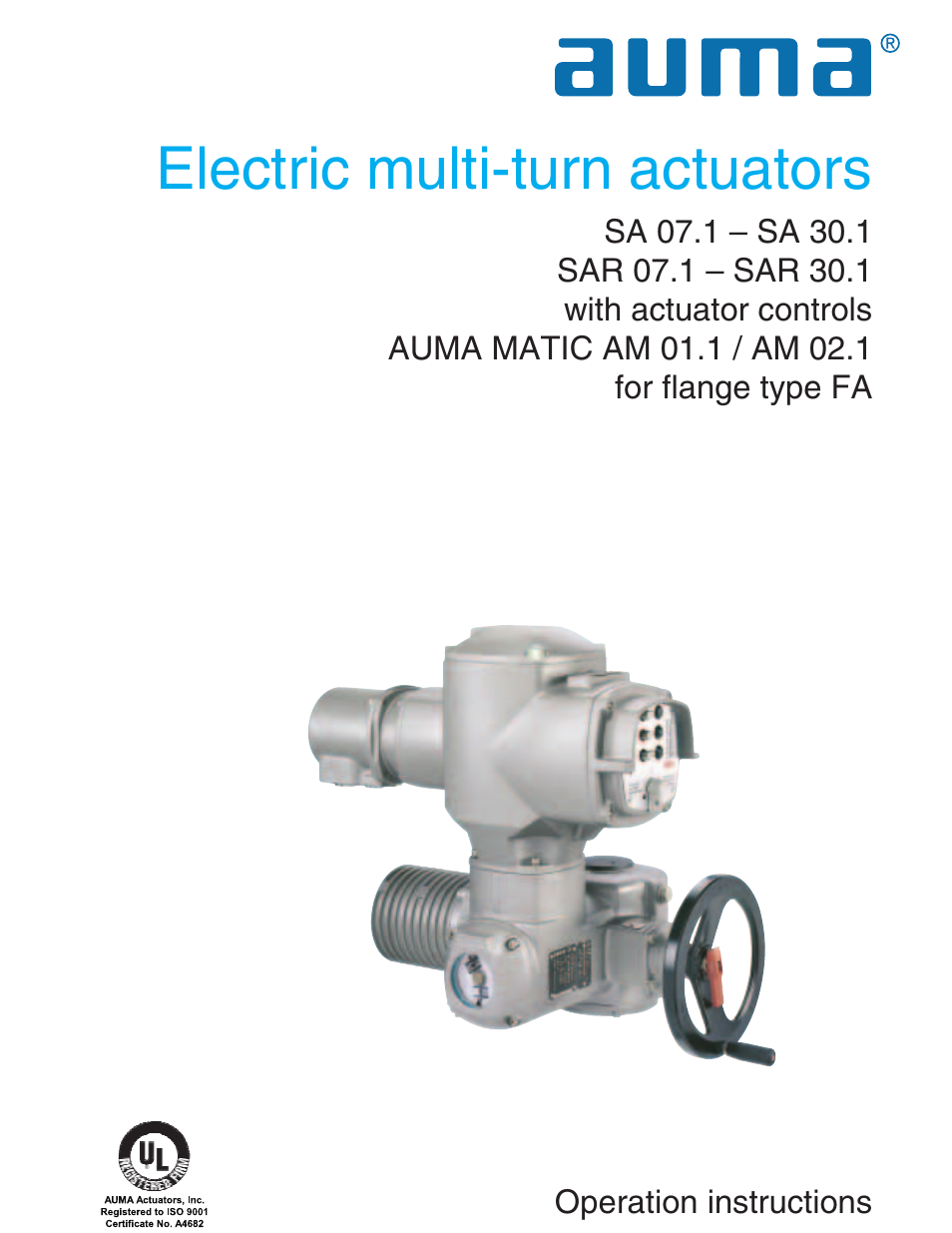 auma electric multi turn actuators sa 07 1 16 1 sar 07 1 16 1 rh manualsdir com EIM Valve Actuators Wiring Diagrams ABZ Electric Actuator Wiring Diagram