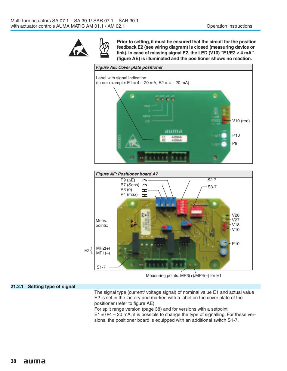 1 setting type of signal auma electric multi turn actuators sa rh manualsdir com