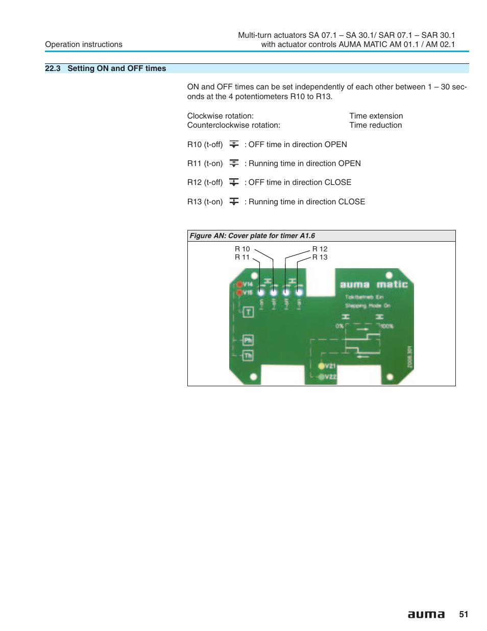 Pause Time 51 Auma Electric Multi Turn Actuators Sa 07 1