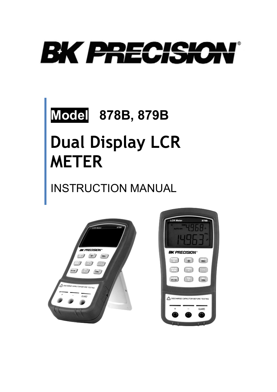 Bk Lcr Meter : B k precision manual user pages also