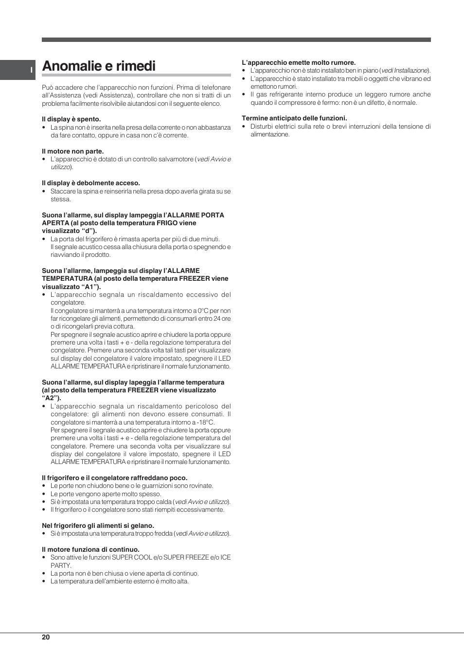 Casa Troppo Calda Rimedi anomalie e rimedi   indesit pbaa 33 f d user manual   page