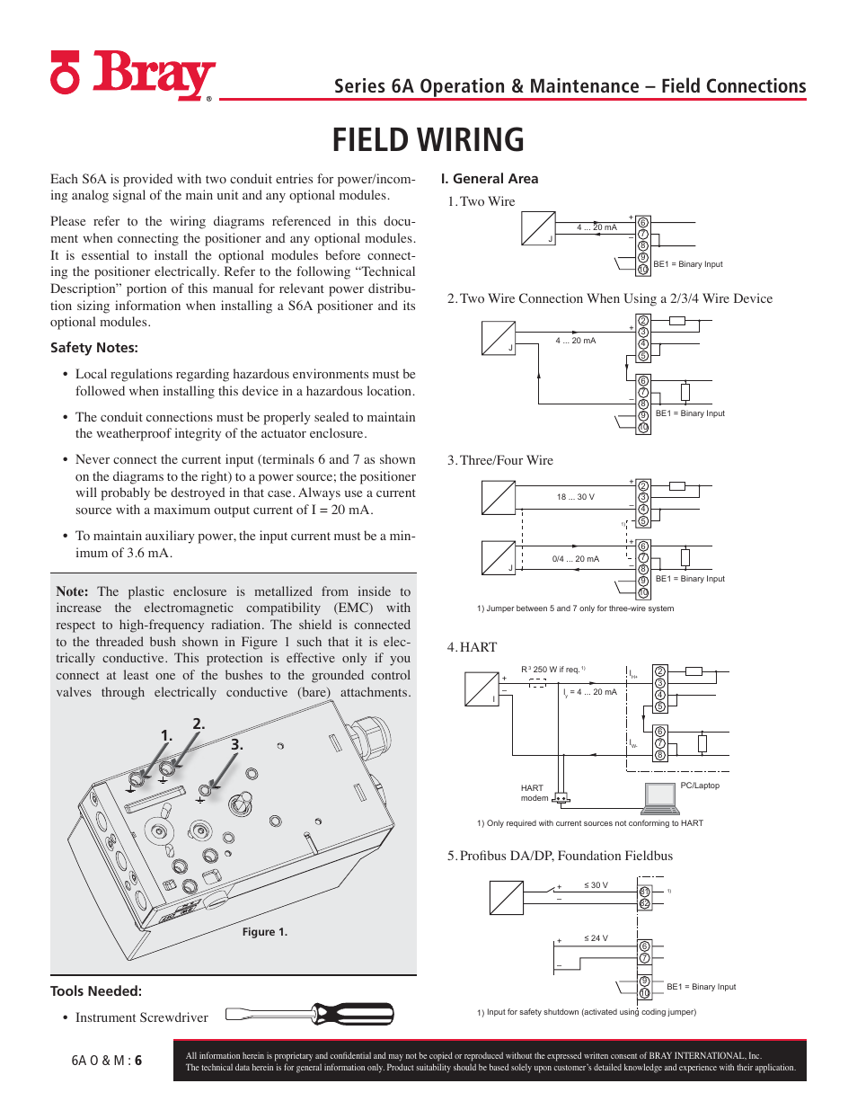 Field Wiring  6a O  U0026 M   6  Two Wire Connection When Using