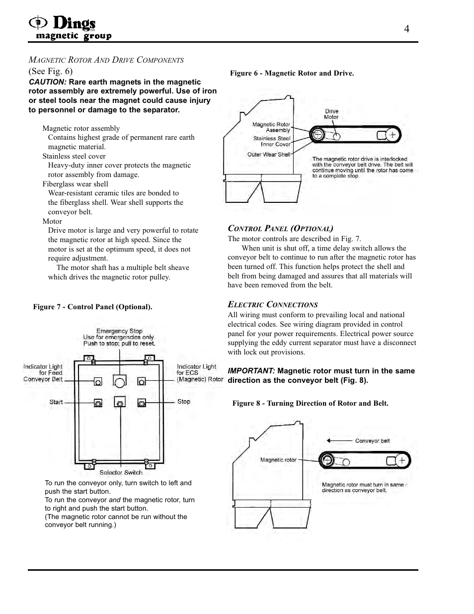 Dings Magnetic Group 2 Pulley Eddy Current Separator User Manual Time Delay Switch Wiring Diagram Page 4 8