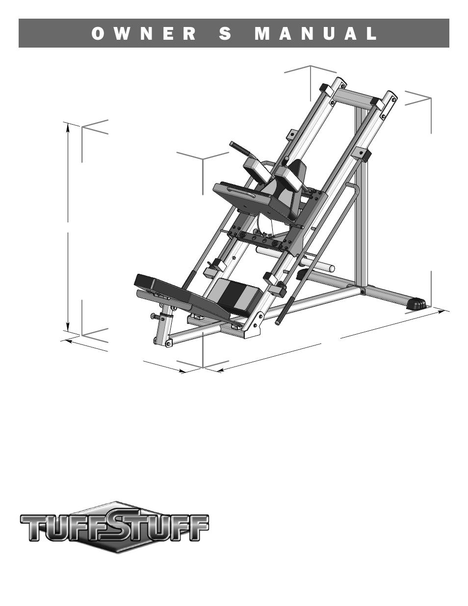 Tuff Stuff RLP-200 Leg Press/Hack Squat User Manual | 12 pages