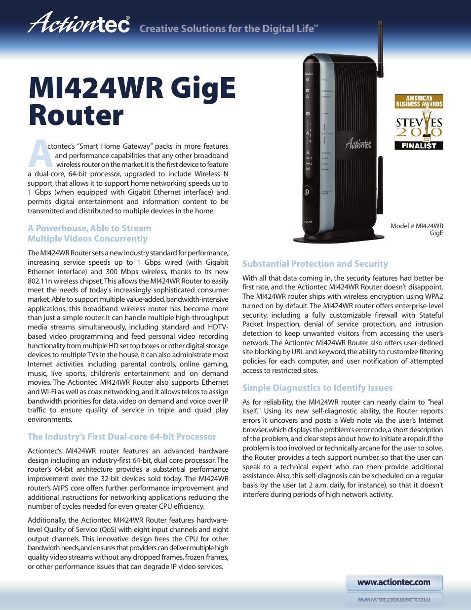 actiontec mi424wr gige user manual 2 pages rh manualsdir com MI424WR Bridge Mode MI424WR Bridge Mode