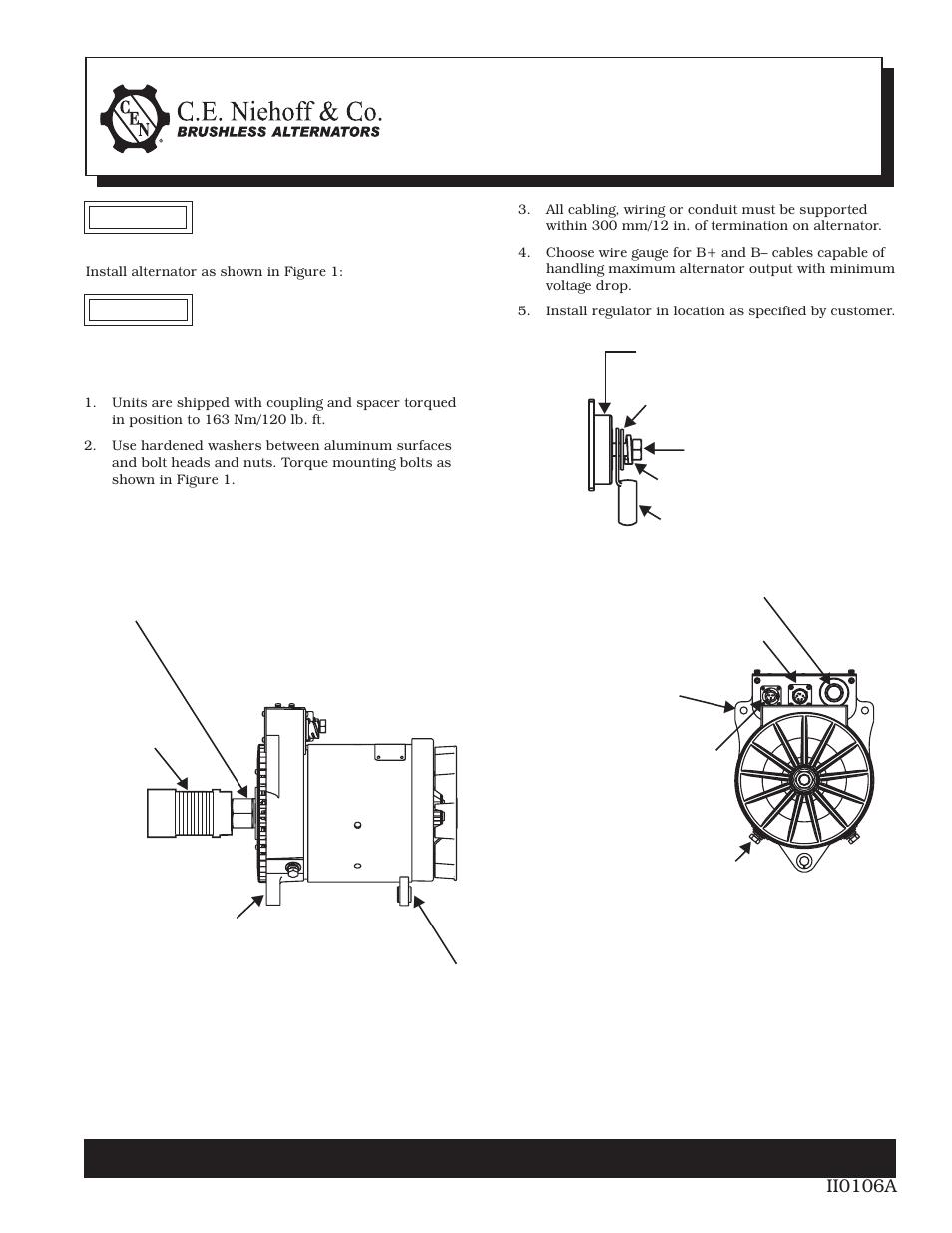 C E  Niehoff & Co  N1385-2 Alternator Installation User