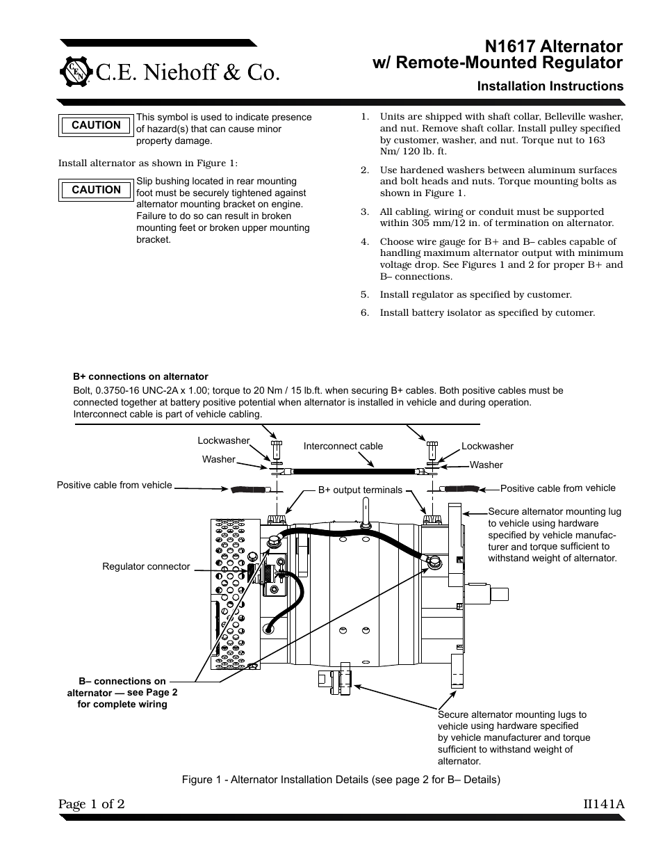 Internally Regulated Alternater Manual Guide