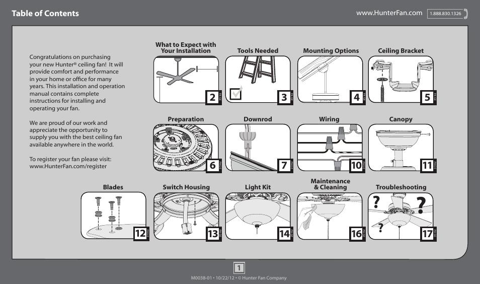 Hunter 54050 52 Grand Cayman User Manual