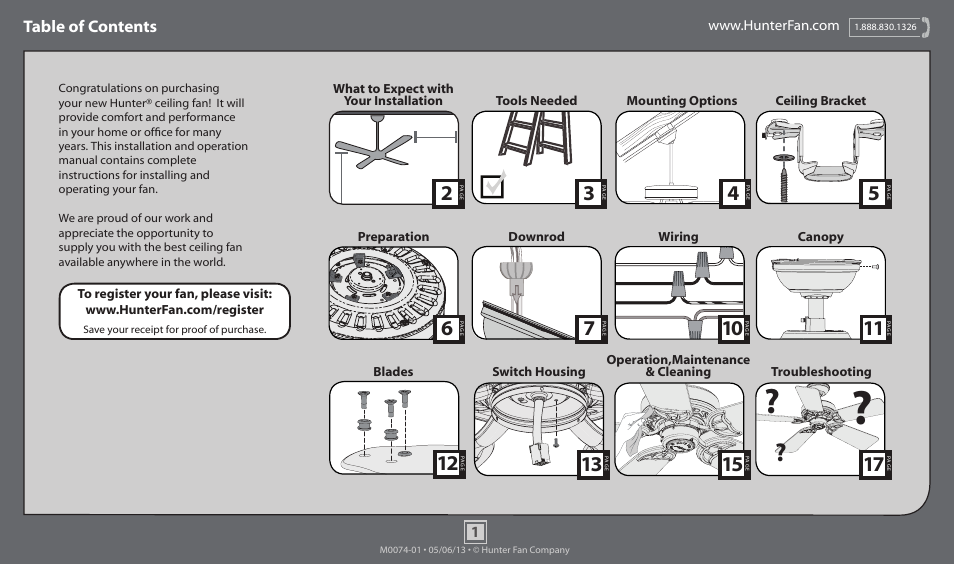 hunter 54018 60 royal oak page1 hunter 54018 60 royal oak user manual 17 pages also for 54017 Ceiling Fan Wiring Diagram at bakdesigns.co